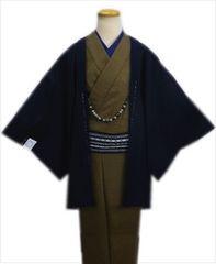 粋なメンズ男物男性羽織単品濃紺色M・L・LL 和装着物コート冬物