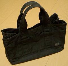 美品 porter トートSMOKY(s)black