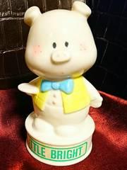 新品 内藤ルネ 陶器 ブタ 卓上 ナイト ランプ  ライト