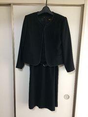 式服、礼服!11号レースワンピセット!美品ブラックフォーマル