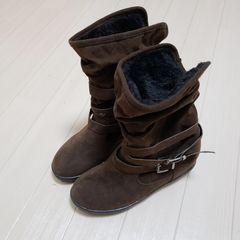 大きいサイズ ブーツ モコモコ 25cm LL