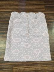 薄パープル レース スカート