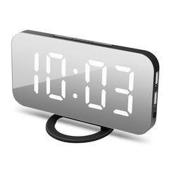 目覚まし時計 置き時計 掛け時計 大型 黒