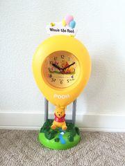 ディズニー くまのプーさん バルーン/風船 振り子時計 中古美品