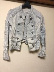 デニムジャケット/薄手/上着/Sサイズ/ライトブルー