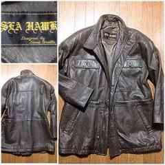 格安革コート柔らか羊皮ラムレザージャケットアメカジミリタリー