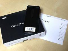 GRATINA4GKYF31黒新品グラティナ一括購入済SIMフリードコモ