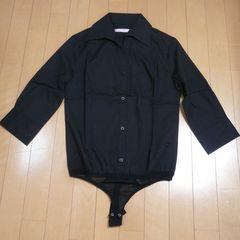 一体シャツ&ショーツ★黒ボディーシャツ【新品★40】
