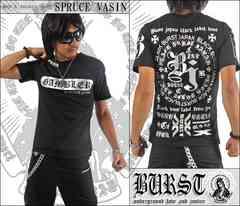 メール便送料無料【MAD BURST JAPAN】70536Tシャツ黒銀L