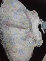 美品海外かわいいカラフルドレスパンツと新品の花ヘアバンド