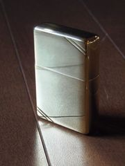 37レプリカジッポーブラスゴールドフラットトップ96年8月製ZIPPO