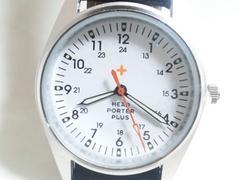 3474/PORTERポーター☆新品未使用品★ホワイトCOLORダイヤルメンズ腕時計