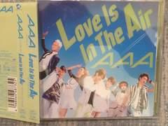 激安!超レア!☆AAA/Love IsIn TheAir☆初回盤/CD+DVD☆トレカ付