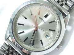 10387/シチズンラウンドモデル!シルバーラインのメンズ腕時計!ヴィンテージモデルオススメ