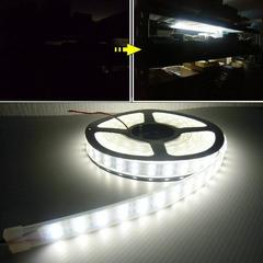 送料無料!24V5M巻カバー付LEDテープライト蛍光灯アンダーライト