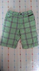 エフオーキッズ♪緑チェック半ズボン♪120�p