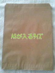 R50サイズ未晒無地平袋30枚★A5が入る紙袋