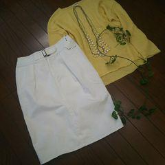 〇mystic〇春先に使えるホワイトデニムスカート*・゜新品