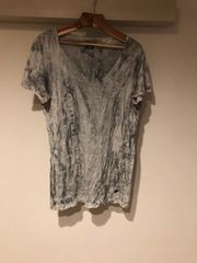 LGB ルグランブルー 総柄 vネック tシャツ メンズ1