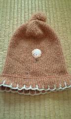 モバオク:子供 ひつじさん刺繍 子供用ニット帽