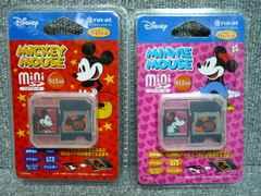 廃版ディズニー「ミニSDカード 512MB2枚セット」(150)