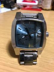 ディーゼル スクエア腕時計 DZ-1123 稼働品