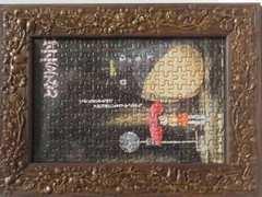 となりのトトロ草壁メイ&トトロバス停前雨の中フレームもトトロでキュート
