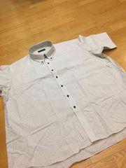 MARIO ESPERANZA  ビジネスボタンダウンストライプ半袖Yシャツ  size7LB  2