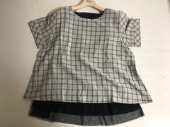 新品■大きいサイズLL■裾フリルインナー付綿プルオーバー