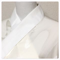 極上 長襦袢 単衣仕立て クリーム色 身丈147センチ前後対応 中古