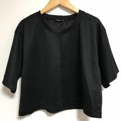 ■osmosisloafオズモロフエンボスTシャツブラック■JEANASIS