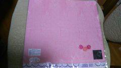 アナスイガーゼハンカチ新品即決460 ピンク 薔薇柄 ANNA SUI