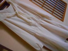 レトロガール*レースリボン薄手シフォンワンピース*クリックポスト185円