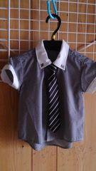 ネクタイ付き、Yシャツ80cm