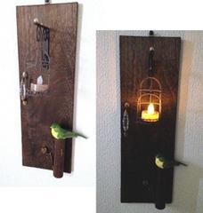 本物キャンドル可★ドアデザイン  LEDキャンドルライト 壁飾り