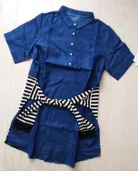 3L★デニムシャツワンピース★シャツ腰巻き風★新品★大きいサイズ