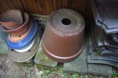 ★昔ながらの風情のある相当大きな植木鉢★朱泥?丸鉢植木鉢