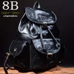 ◆総牛本革 シンプルデザイン 軽量バックパック リュック◆黒b13