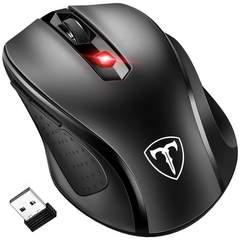 2.4G ワイヤレスマウス 無線マウス コンパクト ブラック