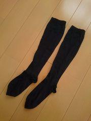 ハイソックス ソックス 靴下 着圧 引き締め効果 ブラック