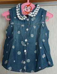 ムージョン購入☆DonkeyJossy夏物ノースリシャツ☆size95