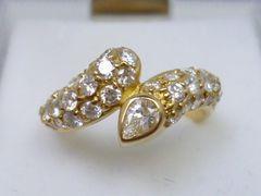 K18ゴールド 合計 0.96ct ダイヤモンドリング 9号 指輪