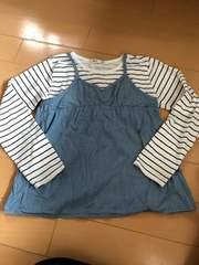 Right on切り替えTシャツ140