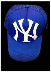 セール新品ニューヨークヤンキース★メッシュキャップ★スナップバックNYブルー