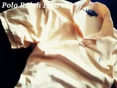 【POLO】ラルフローレン Vintage Destroyed デストロイポロシャツ LL/Yellow