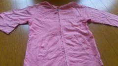 ユニクロ 130センチ 薄手 パーカー 女の子 ピンク