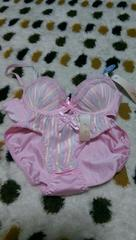 A75Mピンク可愛いパステルストライプセット♪( v^-゜)♪