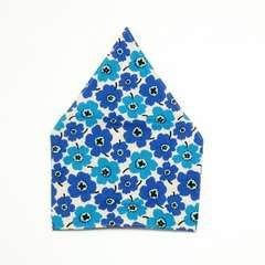 北欧風花柄青三角巾