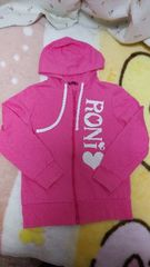 RONI/ロニィ★ロゴ入りパーカー☆サイズL★ピンク♪