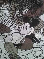 ディズニー ミッキー 和柄 鳳凰 幻 デザイン Tシャツ グレー Mサイズ